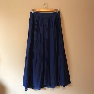J. Crew flare maxi skirt fully lined